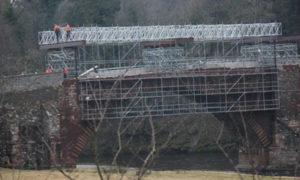Scaffolding on Lowood Bridge