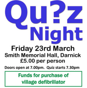 Quiz NIght Friday March 23